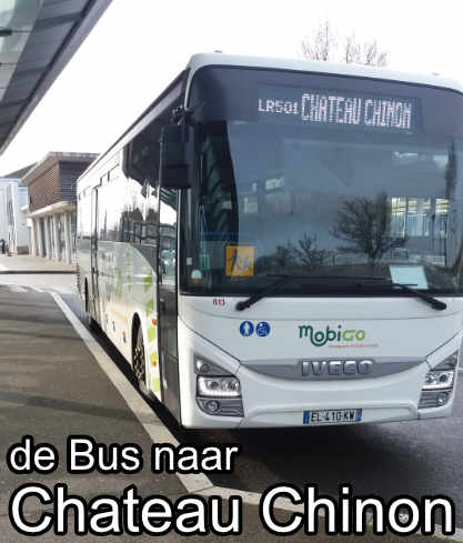 Bus Nevers naar Chateau Chinon