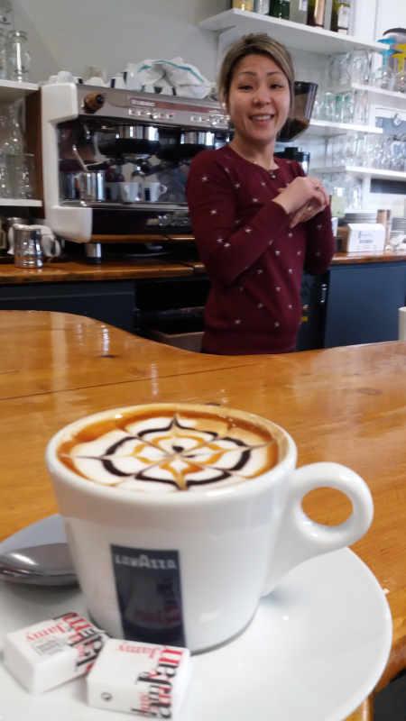 koffie gemaakt met liefde