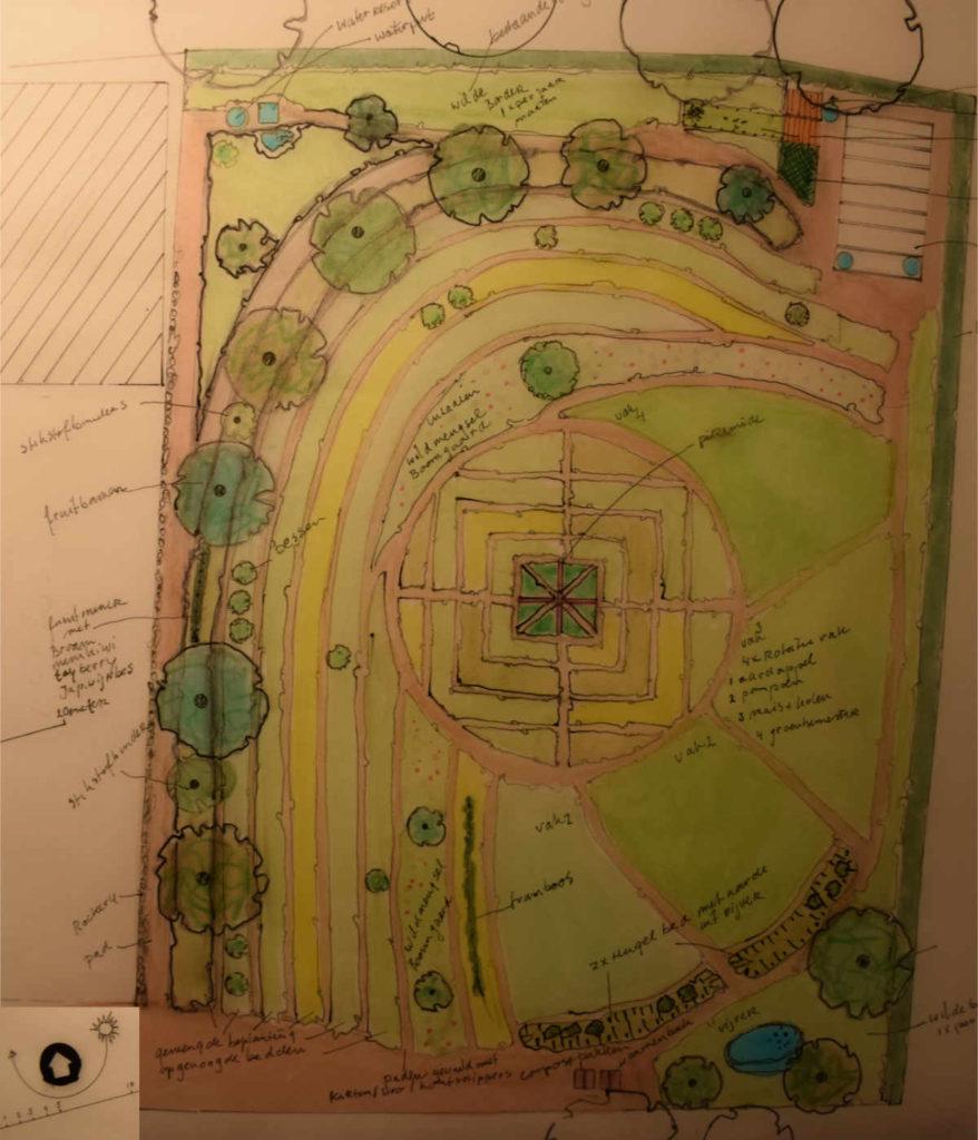 ontwerp permacultuur tuin Saint Honore Les Bains